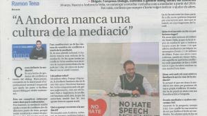 """""""A Andorra falta una cultura de la mediació"""""""
